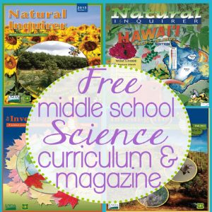 Free Middle School Science Curriculum and Magazine | Tina's Dynamic Homeschool Plus