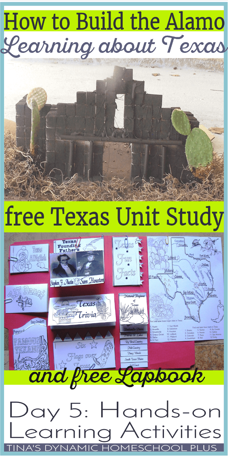 How to Build the Alamo. Learning about Texas. Grab your free unit study and lapbook @ Tina's Dynamic Homeschool Plus