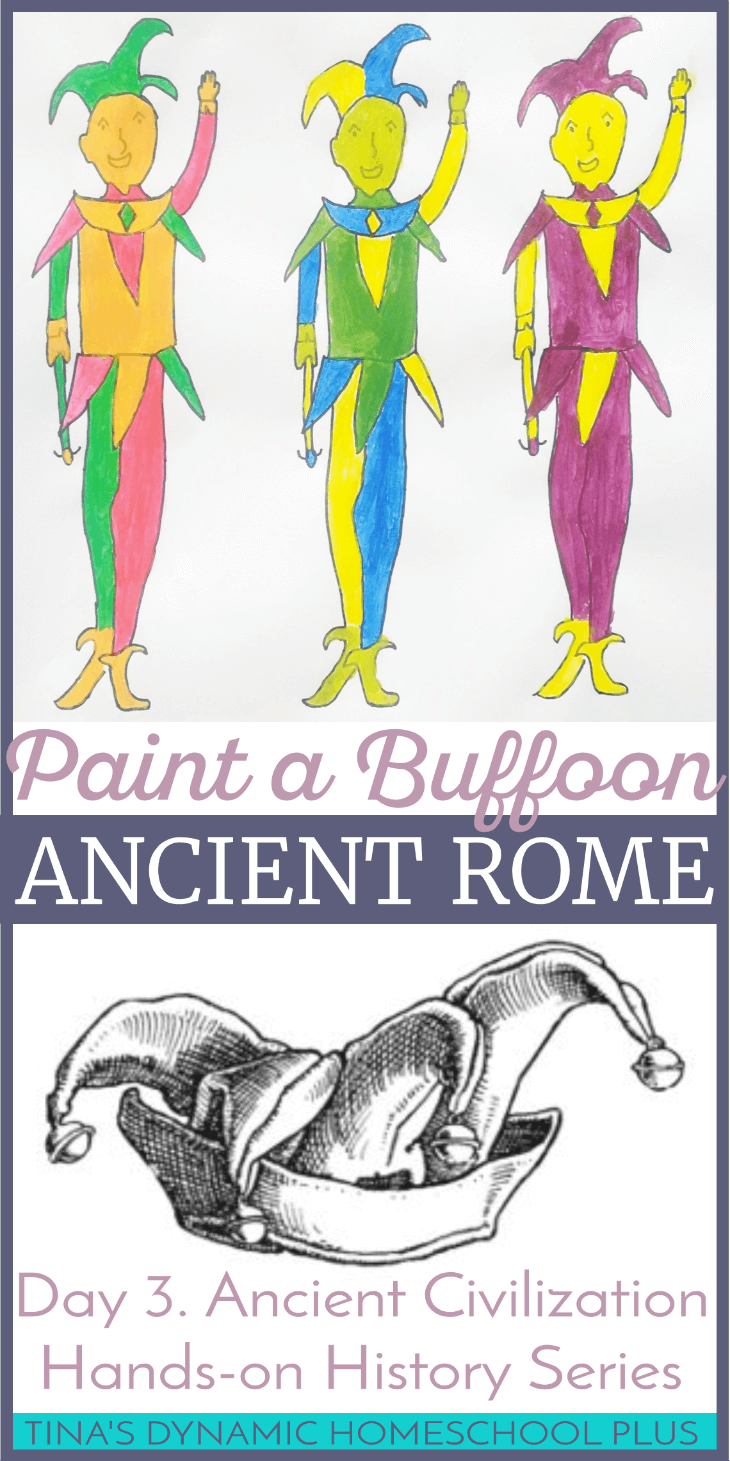 Fools, buffoons, jesters or court jesters were entertainers especially well-known during the Medieval period, but what we didn't know was that they had their beginning in several ancient civilizations. One ancient civilization where they got their start was Ancient Rome. Click here to grab some interesting facts and learn how to draw and paint a court jester!
