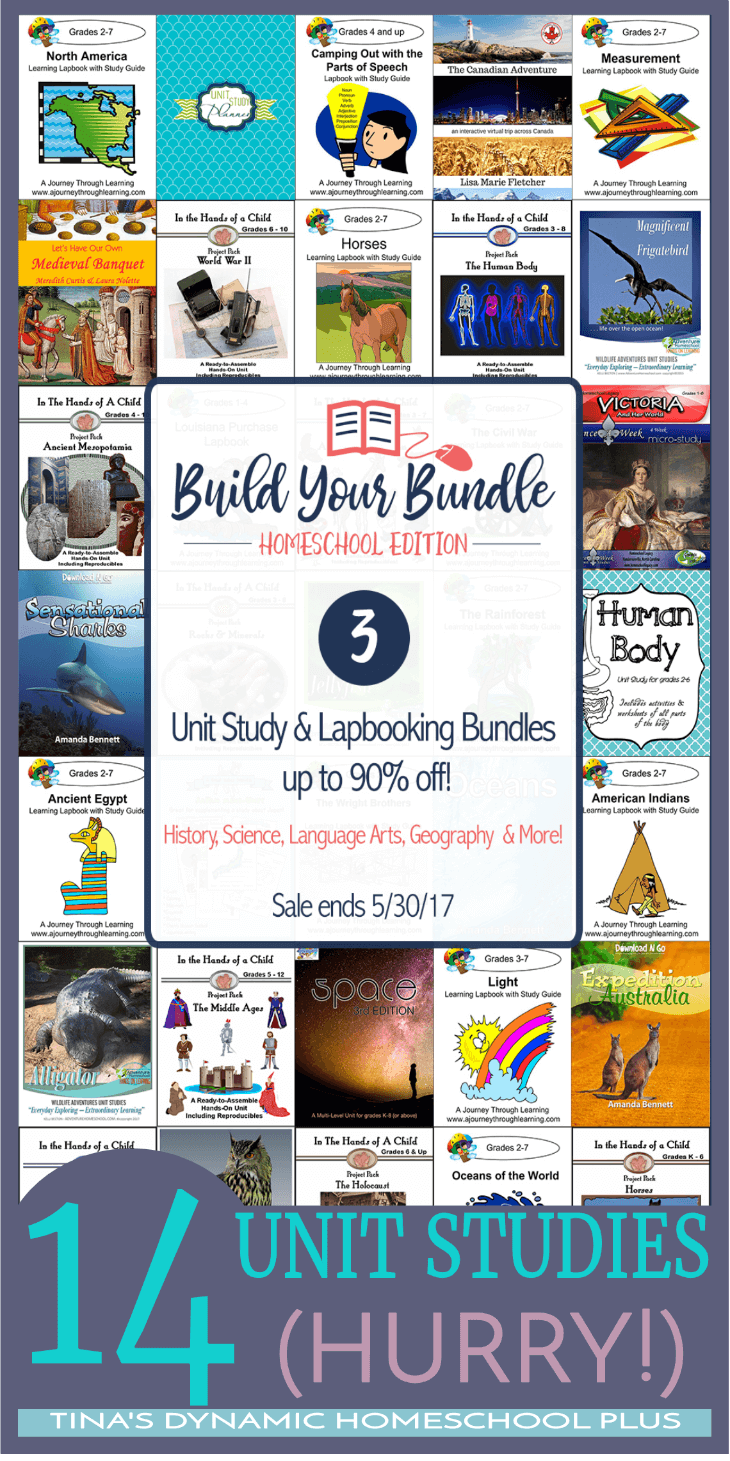 Grab 14 unit studies on history, geography, science, and more for just $14.95