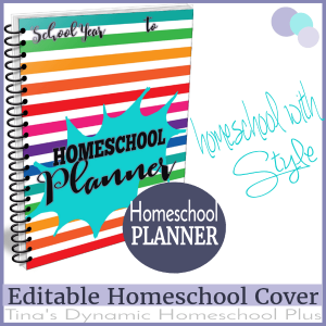 Splash Homeschool Editable Planner Cover 600x @ Tina's Dynamic Homeschool Plus
