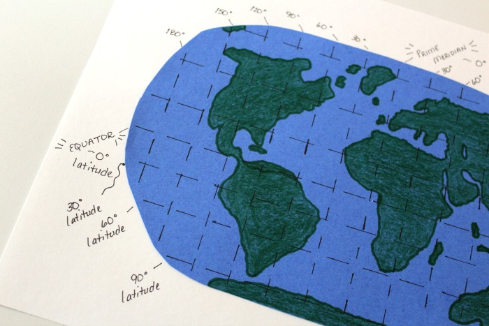 Marking Latitude Lines on a Map @ Tina's Dynamic Homeschool Plus
