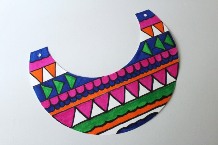 Colorful Ancient Egyptian Collar Craft