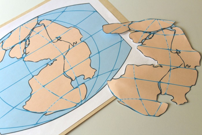 HandsOn Geography Activity Make A Pangaea Puzzle - Pangaea map