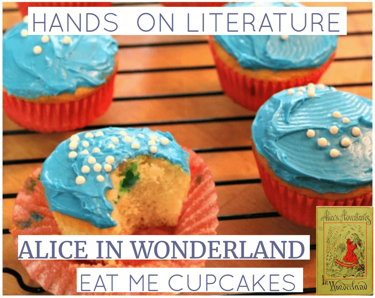 If you're looking for a fun and easy hands on idea to go with learning about Alice in Wonderland, your kids will love these Eat Me Cupcakes. Click here to see how to make them! Yum.