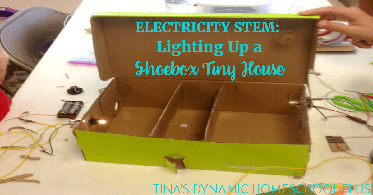 Electricity STEM: Lighting Up a Shoebox Tiny House on small house house design, shoe box house craft, shoe boxes with a z, cardboard house design, shoe box house furniture, shoe box stage design, paper box design, shoe logo design, shoe box living room design, best friend shoe box design,