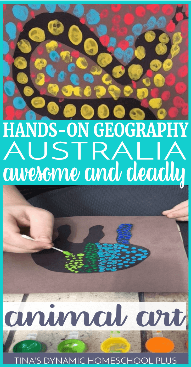 Learning about continents is a way to learn more about our world and its geography as we homeschool. This Australia awesome and deadly animal art activity is not only fun but it gives kids a chance to learn about science too. Click here to do this fun activity if you're doing a unit study about Australia.