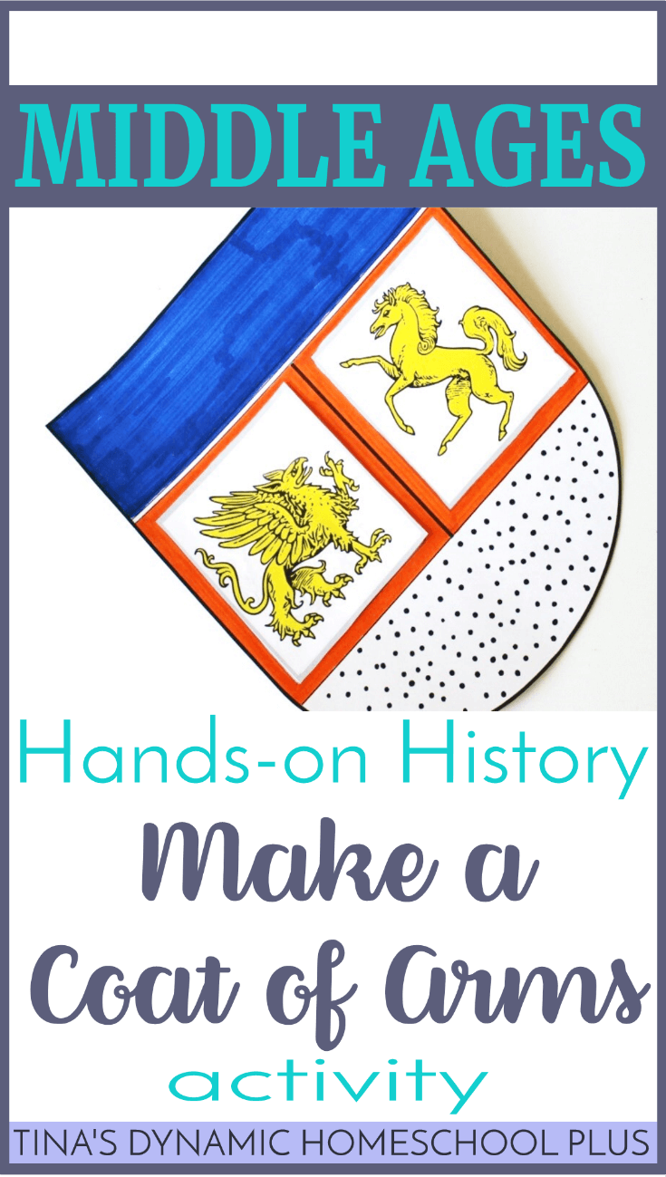 Looking for an easy hands-on middles ages history activity? Your kids will love making their own coat of arms. Scoot by and download the activity at Tina's Dynamic Homeschool Plus!