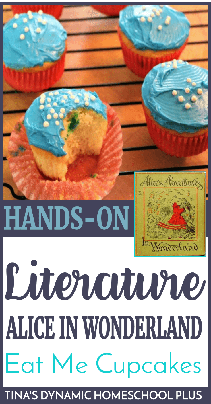 If you're looking for a fun and easy hands on idea to go with learning about Alice in Wonderland, your kids will love these Eat Me Cupcakes. Click here to see how to make them. Yum!