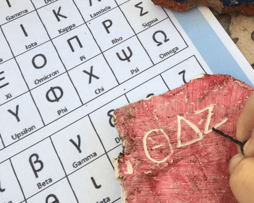 Making Letters in Greek Pottery