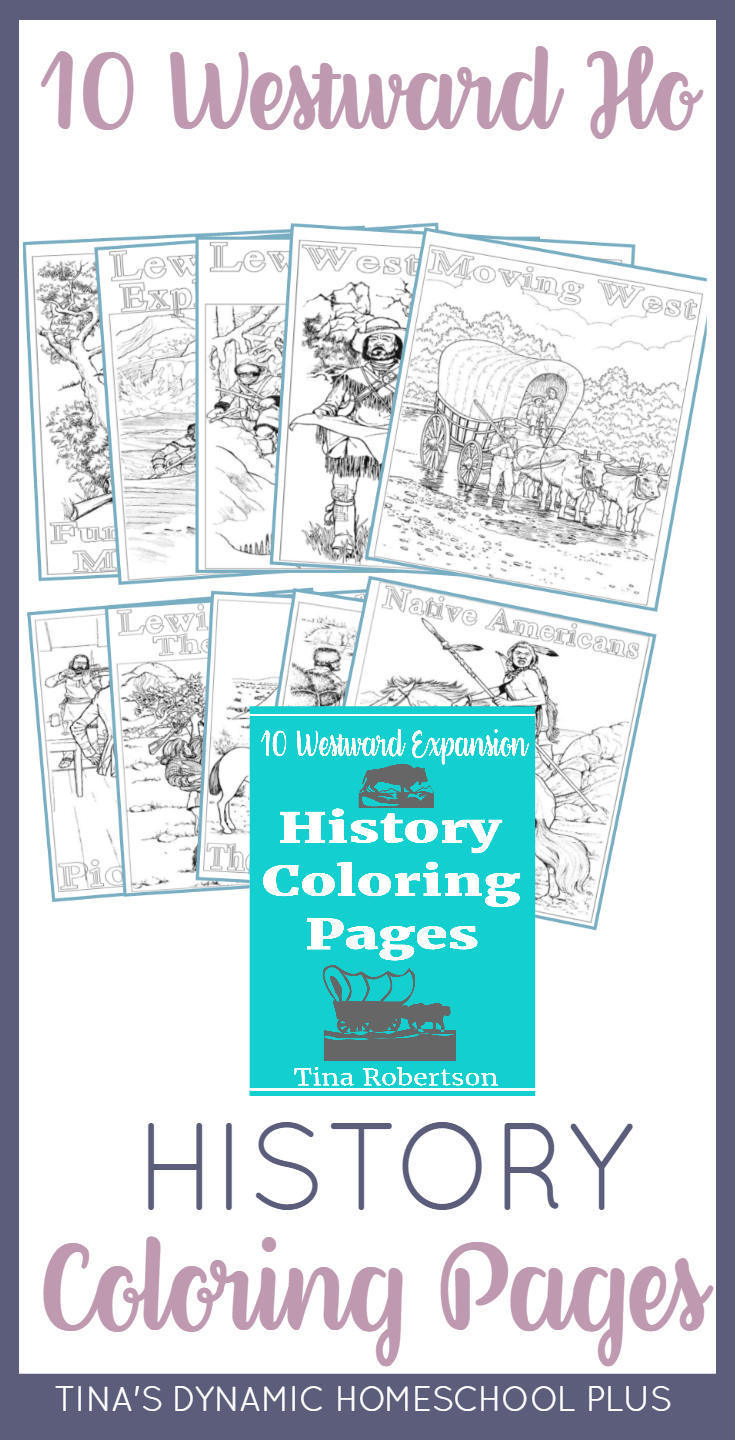 10 Westward Expansion History Fun Coloring Pages. If you're studying about The Oregon Trail, Lewis and Clark or Westward Ho, your kids will love these pages. Click here to grab them!