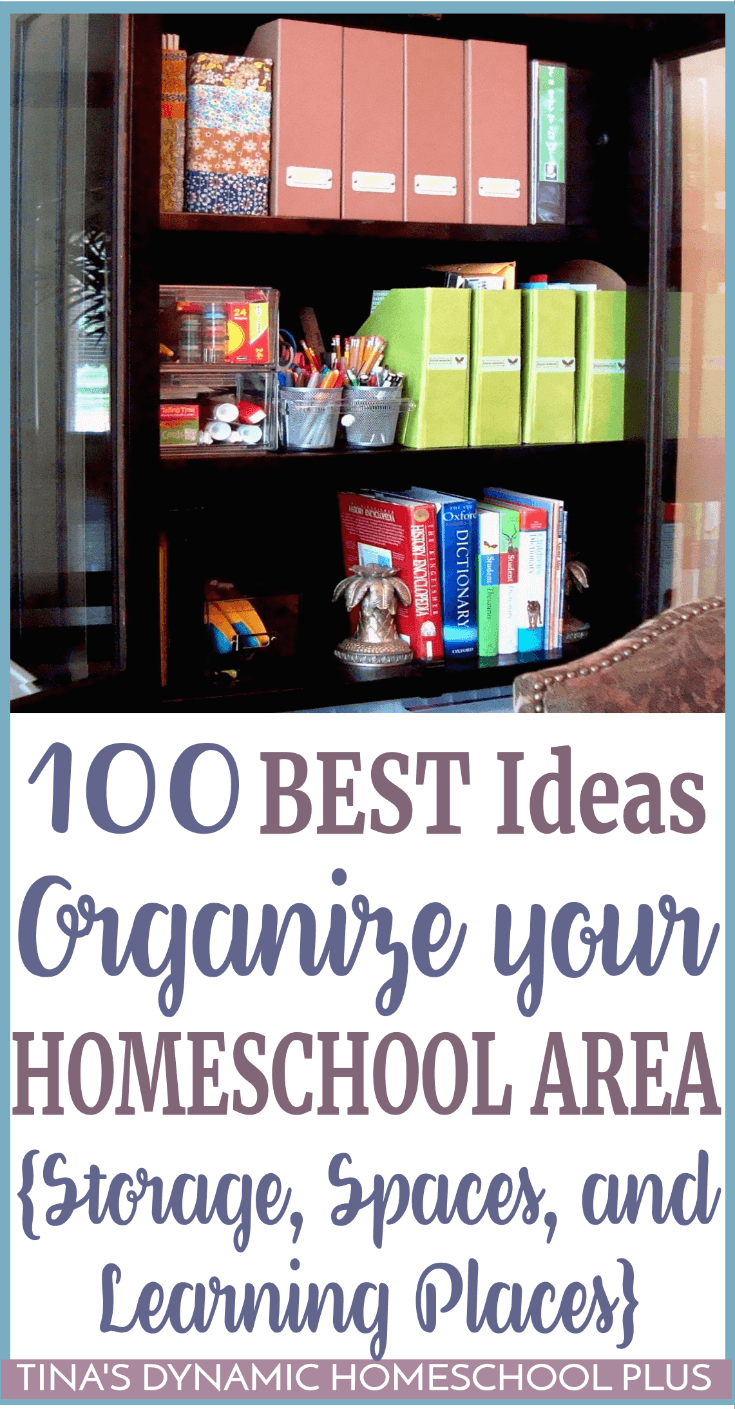 100 BEST Ideas to Organize Your Homeschool Area – Storage, Spaces, and Learning Places. If you're looking for an out of the box idea, scoot by and grab one or two of these AWESOME ideas!
