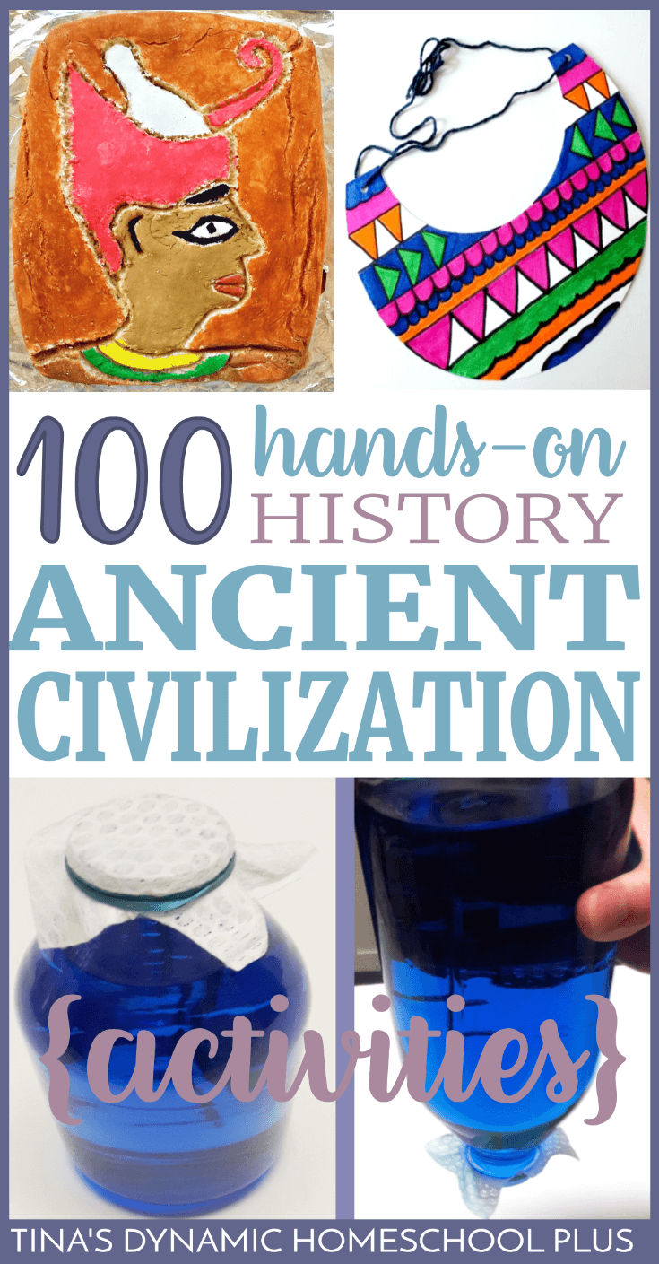 Learning about history shouldn't just be fun, but meaningful. And meaningful shouldn't mean stressed out for you as you plan Ancient Civilization hands-on projects. My standard for hands-on is always the same - EASY. Grab this AWESOME round up of over 100 Hands-on Activities for learning about Ancient Civilizations. Click here!
