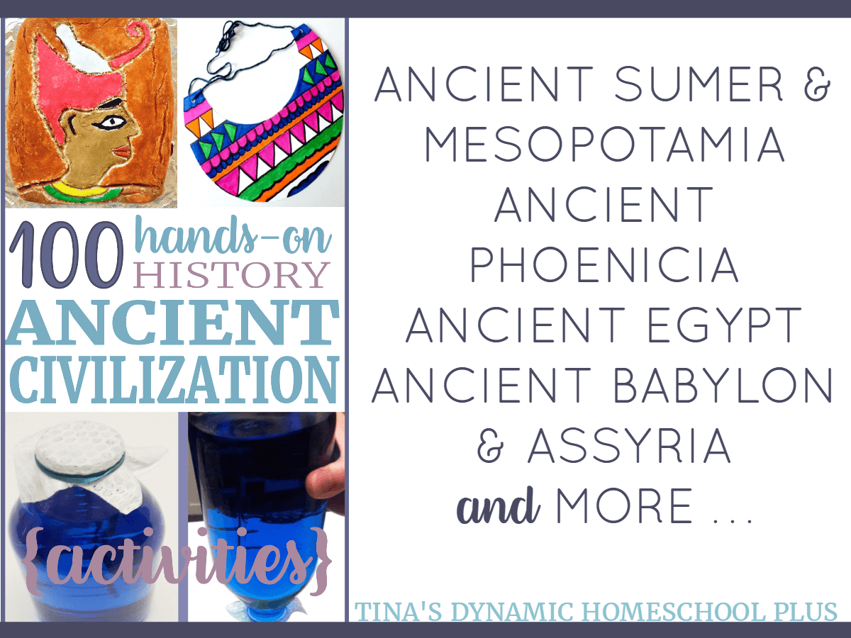 1OO Ancient Civilization Hands-on History Projects. Learning shouldn't be hard, but it should be meaningful. Grab these 100 ideas over at Tina's Dynamic Homeschool Plus