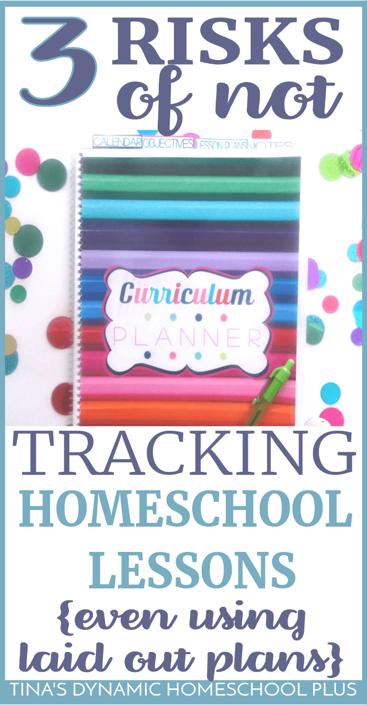 3 Risks of Not Tracking Homeschool Lessons {Even Using Laid-Out Lesson Plans}. Having tracked lesson plans from the beginning prepared me for record keeping in the higher grades, but there are other reasons. Check out these SUPER helpful lesson tracking tips! #homeschooling