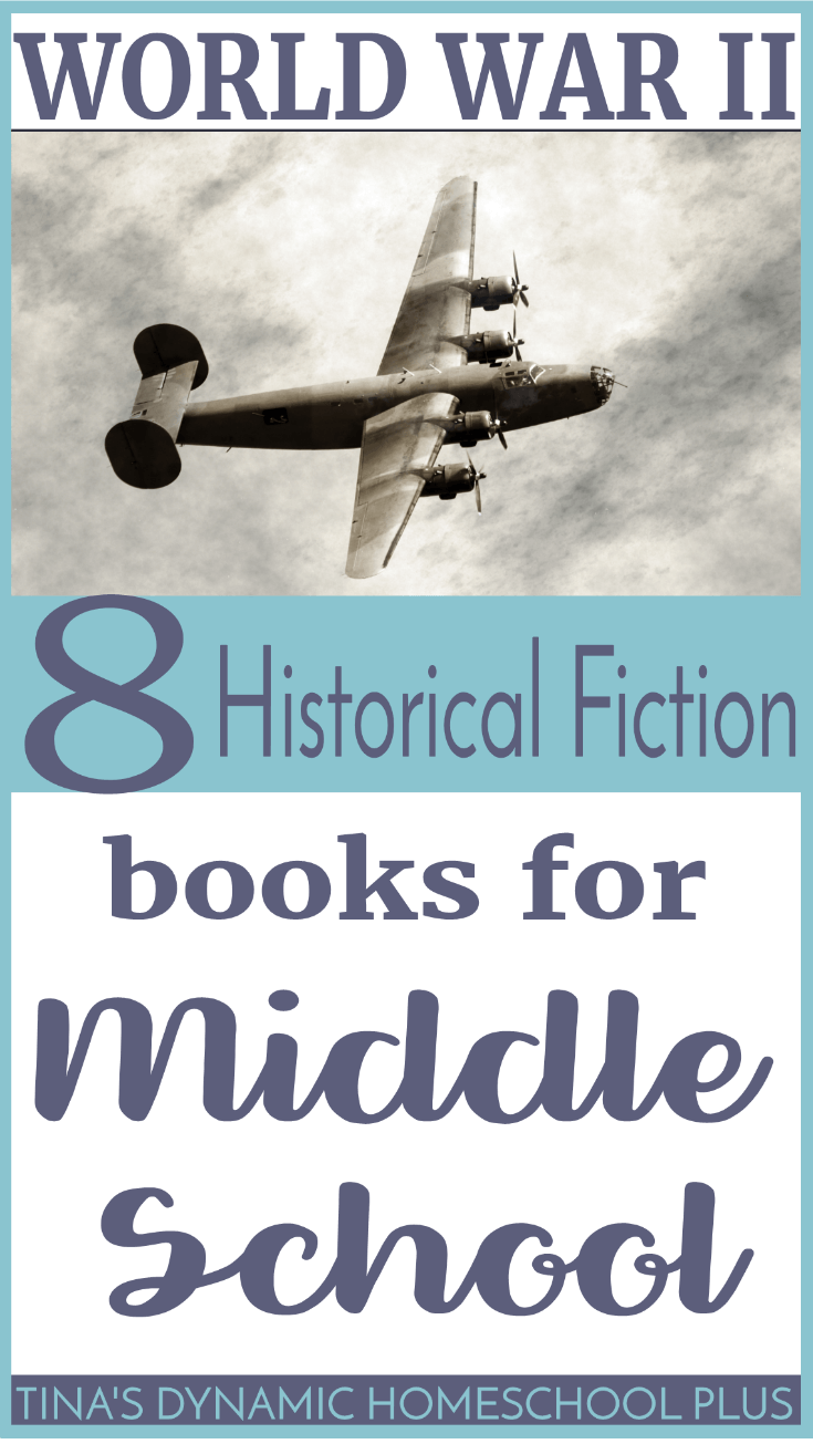 8 World War II historical fiction books for middle school. If you're looking to bring history alive, your homeschooled middle school kids will love these books. Click here to see this AWESOME list!