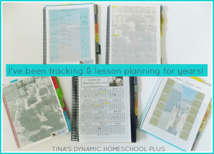 Early homeschool planners while I've been lesson planning and tracking for years.