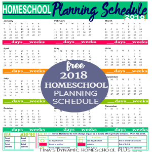Free 2018 Homeschool Planning Form (Kelly Color)