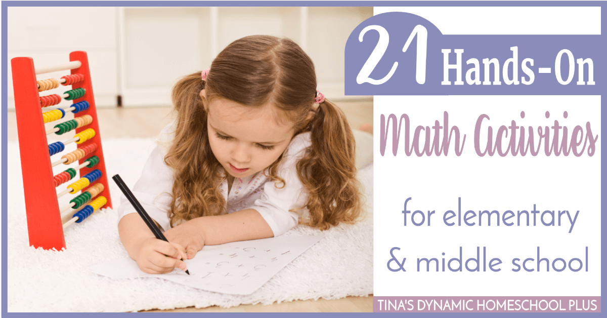 There are 21 math learning activities that are perfect for upper elementary and middle school homeschooled students, even if you're not math inclined yourself. CLICK HERE to grab an idea or two!