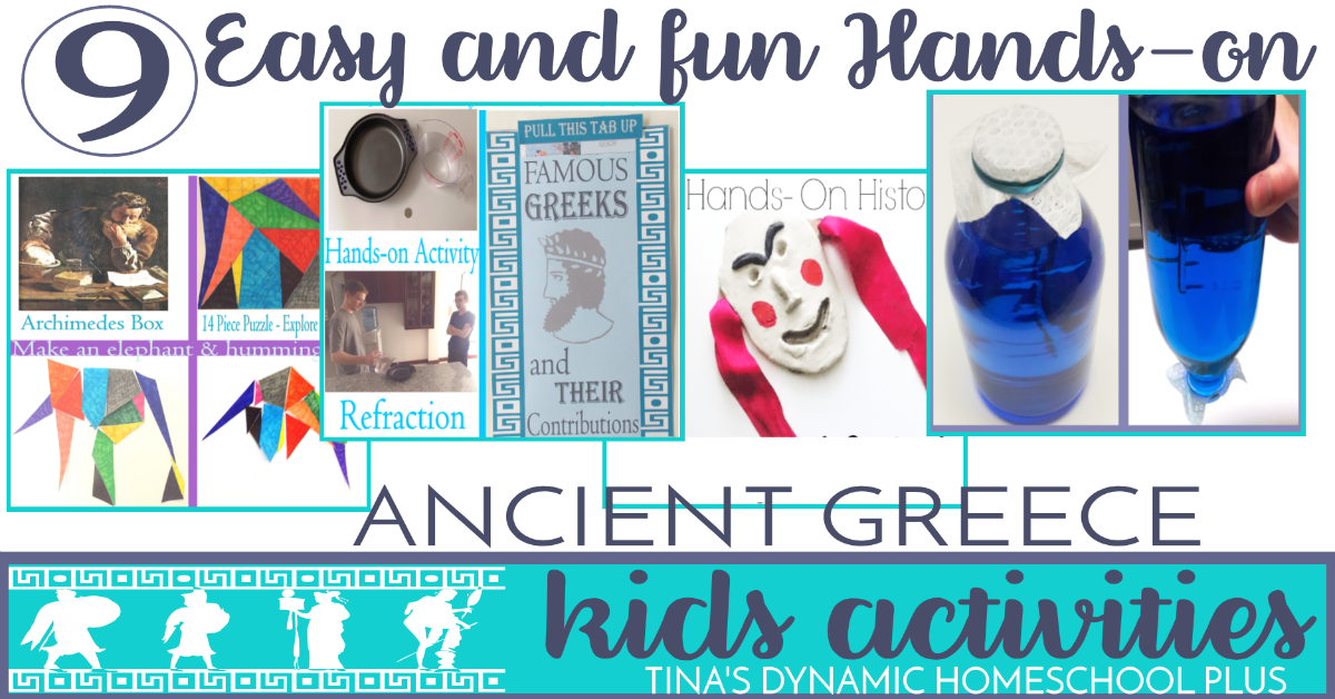 9 Easy and Fun Hands On Ancient Greece Kids Activities. Click here to grab them!