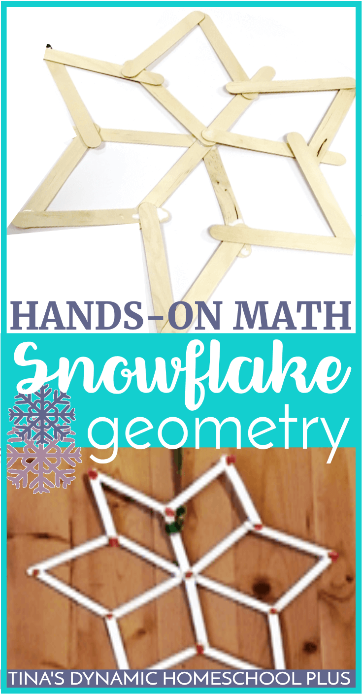 Hands-On Math: Fun and Easy Snowflake Geometry. With the onset of winter weather, we've experienced the first few snow flurries in our area. Add a bit of math and science together to make these easy snowflakes and study a bit of geometry too. CLICK HERE to make this easy hands-on math craft!