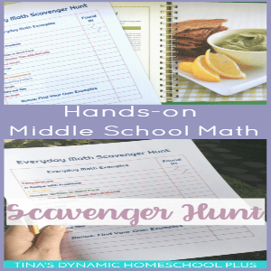 Hands-On Middle School Math: Everyday Math Scavenger Hunt (Printable)