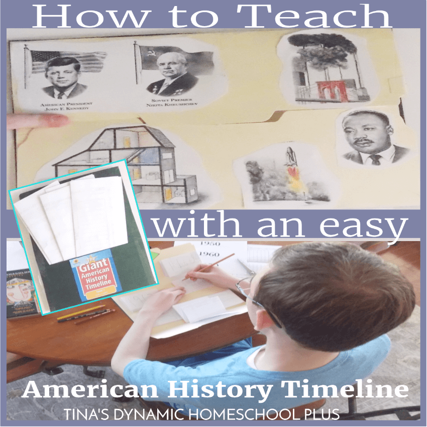 How to Teach With an Easy DIY American History Timeline. If you're looking for a curriculum resource to easily teach American history by using a timeline, you'll love this one. Not only do your kids cover major historical topics but learn about famous people and events. Because it's reproducible you can use it for all of your kids. Click here to grab this great resource!