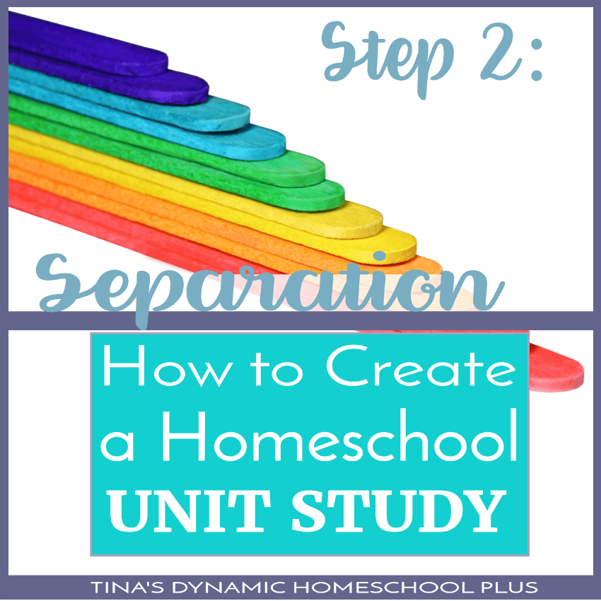 How to Create a Homeschool Unit Study - Step 2: Separation