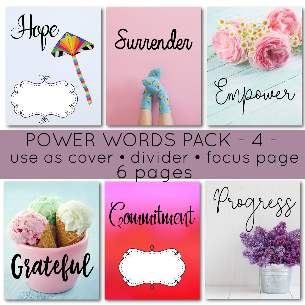 There is no denying power of words to harness your thoughts. Now, put them in your homeschool planner. You'll love these 6 pages of high quality images along with classical fonts for your 7 Step Homeschool Planner.