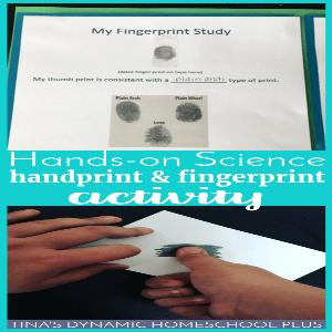 Hands-On Science: Handprint and Fingerprint Activity