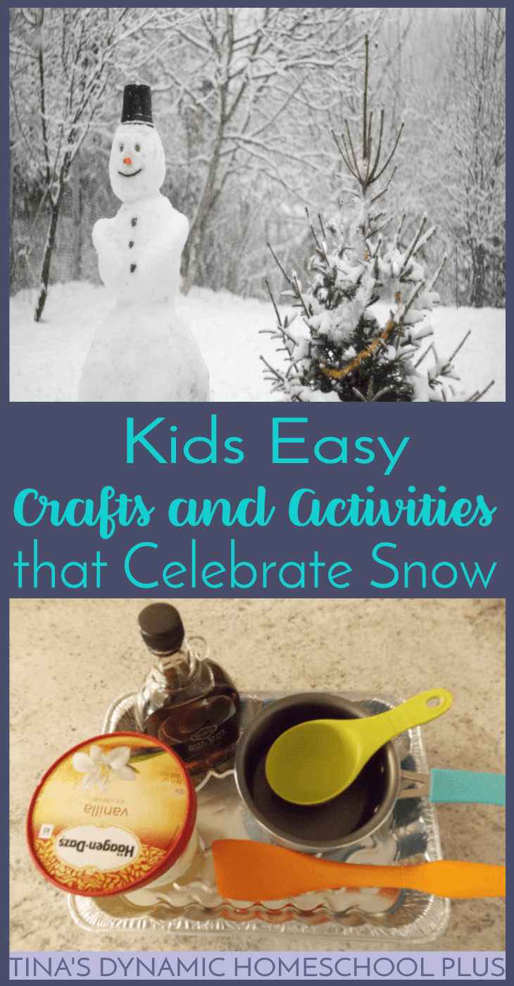 Kids Easy Crafts and Activities that Celebrate Snow. If all the snow has got your kids griping about having nothing to do, I have just what you need to get them excited and celebrate snow! Click here to see these kids easy crafts and activities that celebrate snow.