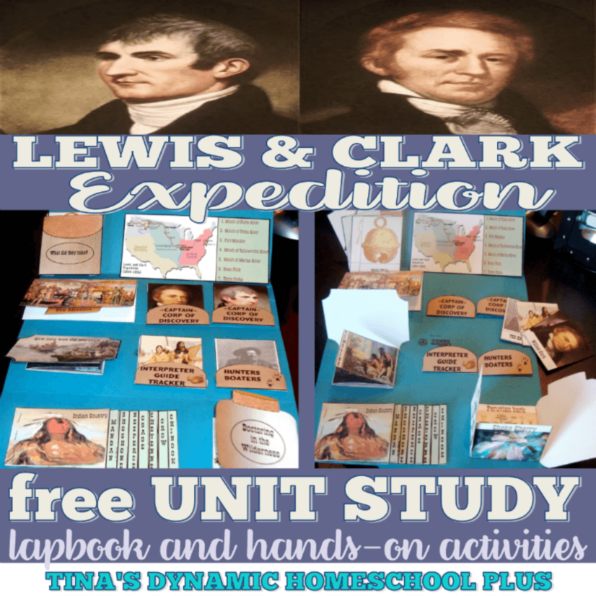 Lewis and Clark Fun Homeschool Unit Study and Lapbook! CLICK HERE here to grab it!