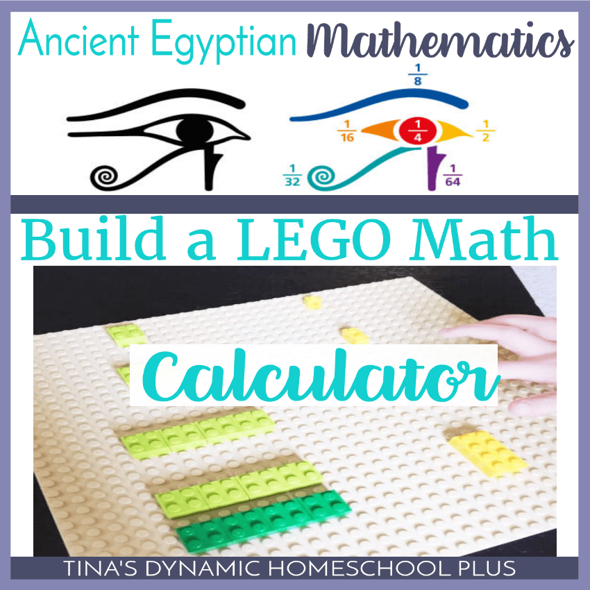 Ancient Egyptian Mathematics: Build a LEGO Math Calculator. Ancient Egypt was an advanced society. We know that from the structures and texts left behind. The Great Pyramids are one of many structures that are considered marvels in engineering and mathematics for the time. Your kids will love this fun hands-on math activity. You can create your own Ancient Egyptian Calculator using Lego bricks. Click here to see how!