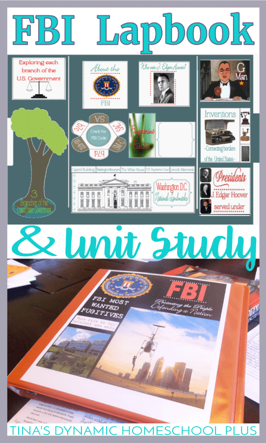 Studying modern American history? Grab this AWESOME free FBI Lapbook and Unit Study | Tina's Dynamic Homeschool Plus