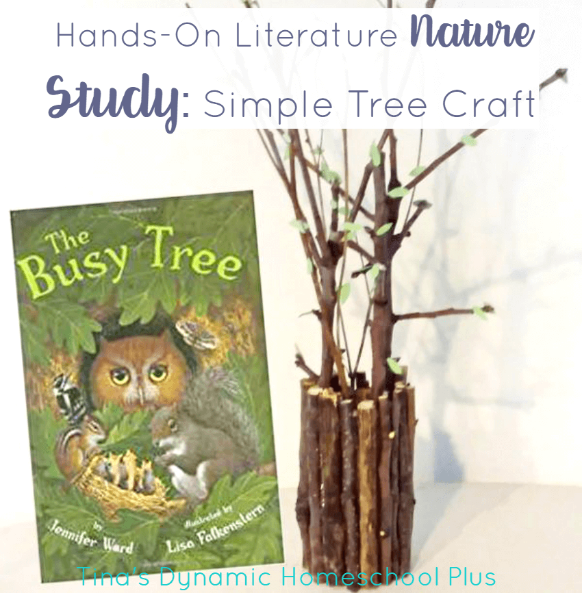 Hands-on Literature Nature Study: Simple Tree Craft! Spring is here, and that means most of us homeschooling mamas are getting out all our nature study materials, making notes, and organizing some fun educational activities to get our kids outside and learning some science (without them even realizing they are learning science).