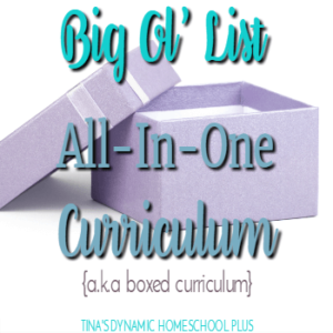 Big Ol' List of All-In-One Homeschool Curriculum (a.k.a Boxed)