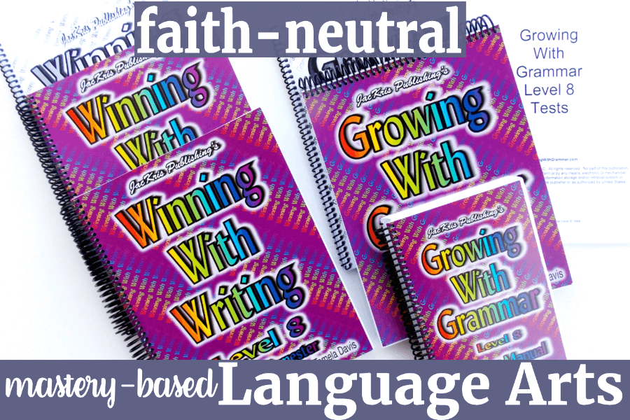 You'll love this faith-neutral homeschool language arts, Levels 1-8, if you're looking for a grammar and writing program which teaches the process in steps and takes the struggle out of learning grammar and writing. Click here!