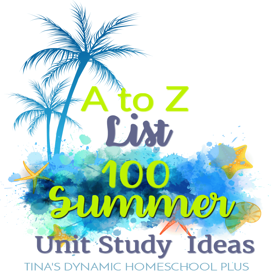 Summer is a perfect time to get in some relaxed themed learning with unit studies. Kids of all ages can have fun learning with topics they will be eager to study. Click here to look at this A to Z List: 100 Fun Summer Homeschool Unit Study Ideas!