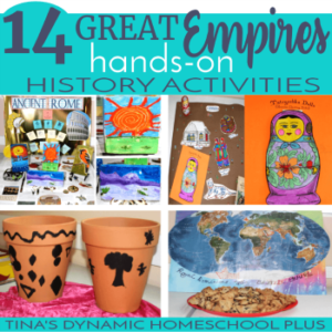Amazing Hands-on History Activities for 14 Ancient Empires (free notebook cover too)