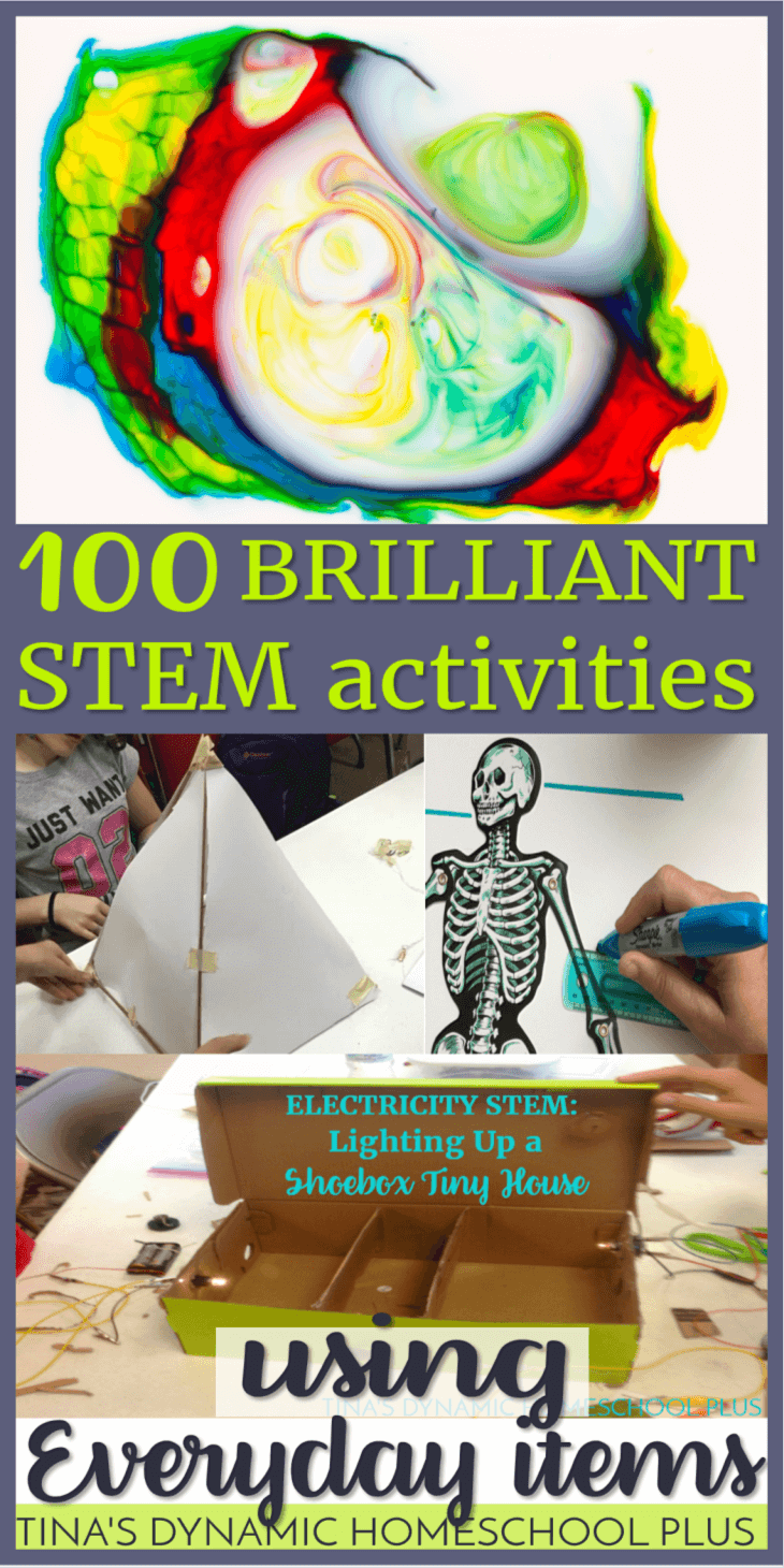STEM learning has to be easy in my home and nothing is easier than using everyday items. Your kids will love these 100 brilliant STEM activities using everyday items. CLICK HERE!