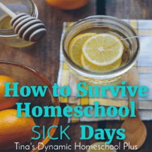 How to Survive Homeschool Sick Days