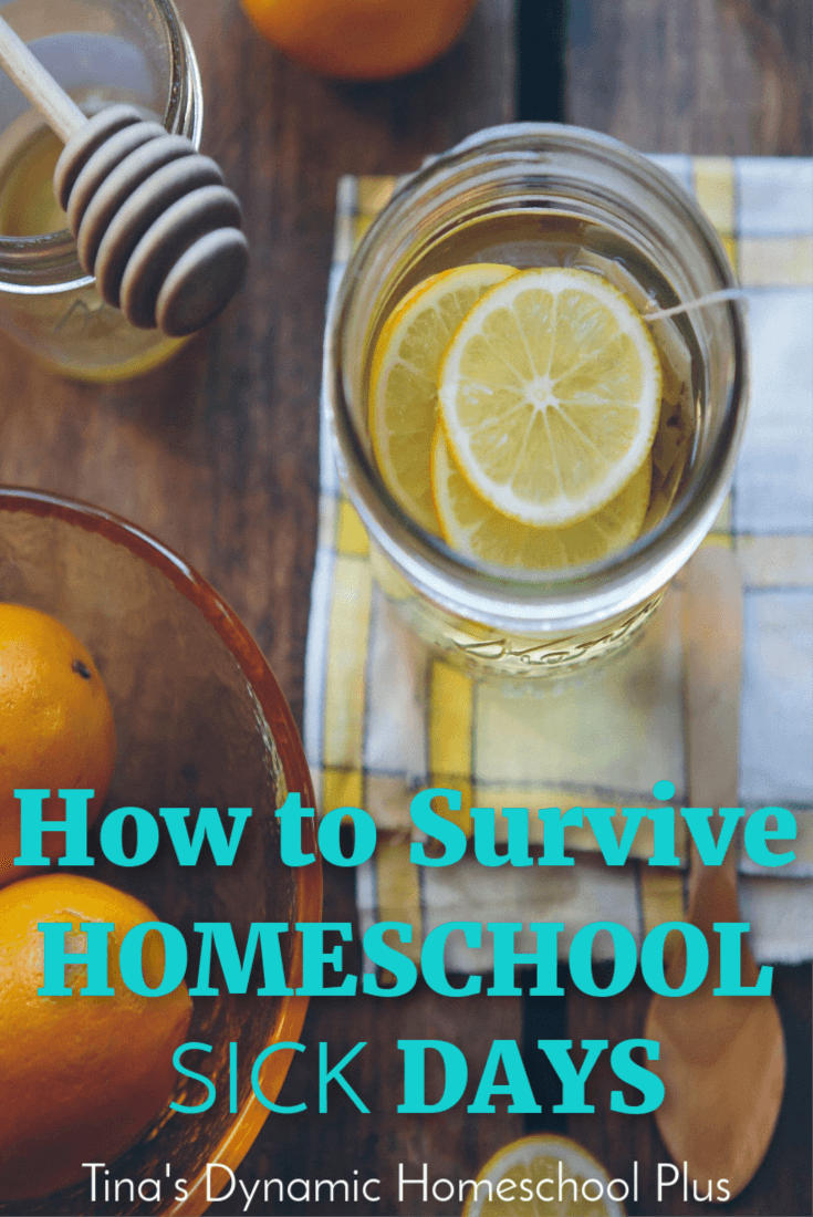 How to Survive Homeschool Sick Days. Even homeschool families need sick days sometimes. Here are some ideas for how to cope when you need a homeschool sick day. CLICK HERE to grab these sanity saving tips!