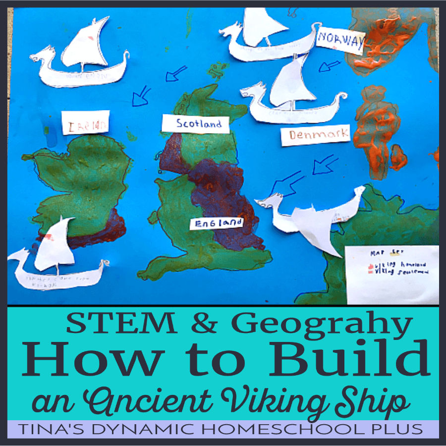 How to create an ancient Viking Ship is a fun STEM and geography project for doing a Viking Unit Study. CLICK HERE to make this fun hands-on kids project to learning about the Vikings!