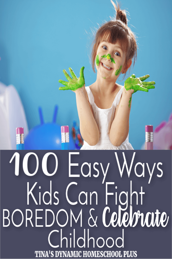 "100 Easy Ways Kids Can Fight Boredom & Celebrate Childhood. ""I'm bored!"" Two infamous words that make every parent cringe. It's frustrating to hear our kids complain about having nothing to do. We immediately feel resentful and turn into our own parents hollering the phrases we swore we'd never say ourselves. How can you possibly be bored?! I'll give you something to do! Anybody else guilty of this? CLICK HERE to grab these AWESOME 100 Easy Ways Kids Can Fight Boredom!"