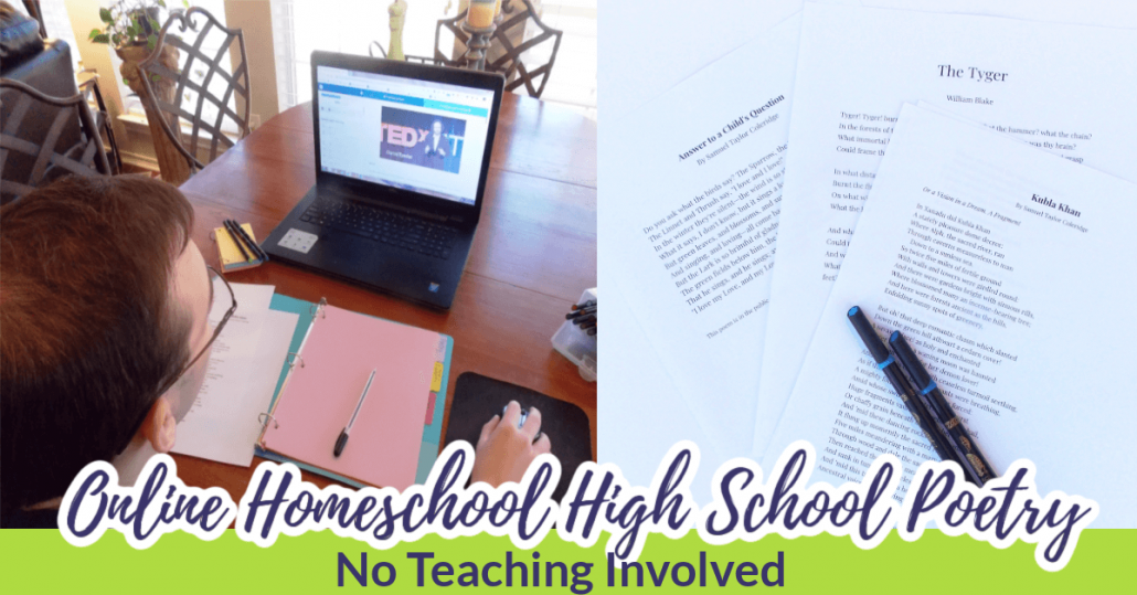 Online Homeschool High School Poetry (No Teaching Involved)