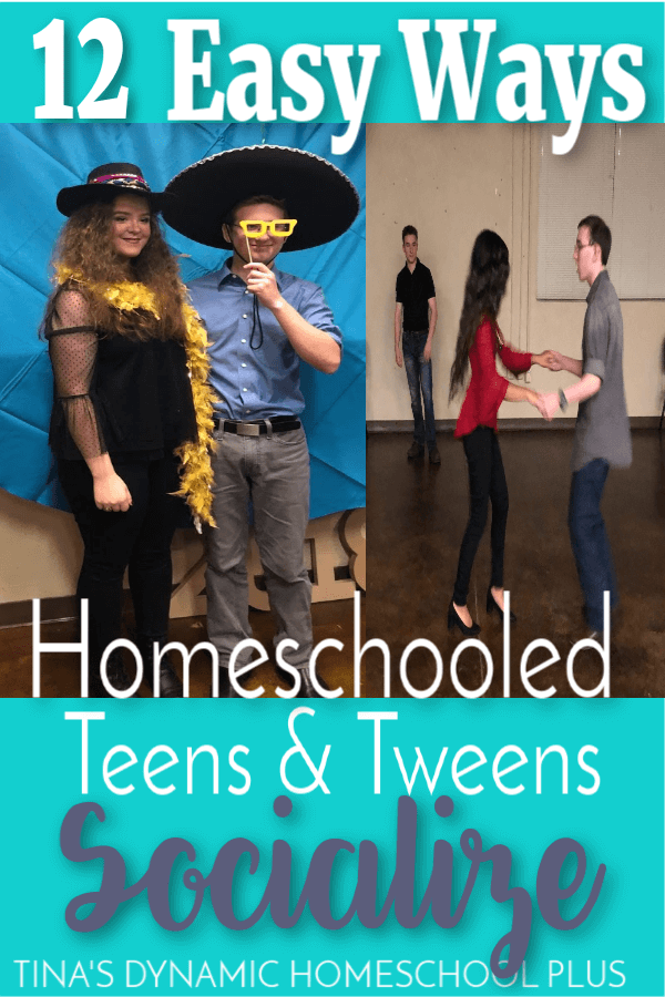 12 Easy Ways Homeschooled Teens and Tween Socialize. It's a valid concern; homeschooled teens and tweens need to socialize more than we do sometimes. Planning time for tweens and teens to socialize doesn't have to be hard. You'll love these 12 Easy Ways Homeschooled Teens and Tween Socialize. CLICK HERE to read it!