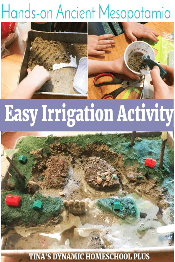With this project, kids learn how this ancient civilization invented a system to grow crops. The most extraordinary thing about this is that we still use this system today! CLICK HERE to do this Ancient Mesopotamia Kids Hands-on History and STEM Irrigation Activity!
