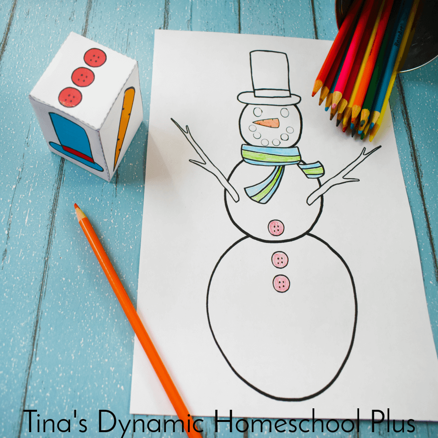 Grab this FUN and FREE How to Make an Easy Build a Snowman Kid's Game (with free printable cube). It's a great activity for a winter unit study to keep the kids busy. CLICK here to grab it!