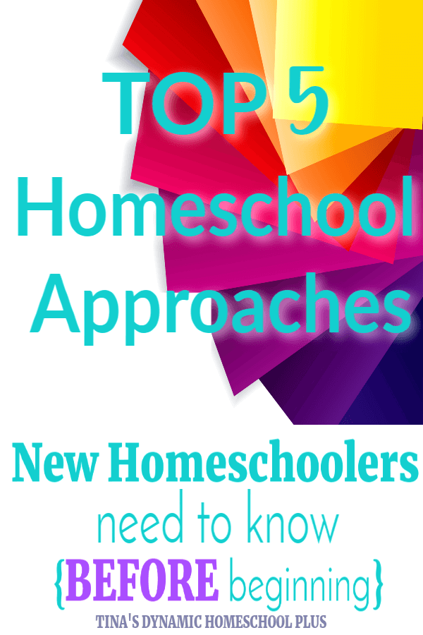 After deschooling, a new homeschooler's first step is to get a basic grasp of homeschool approaches. Having a basic grasp of the top 5 approaches new homeschoolers can conquer overwhelm and tame the curriculum beast. CLICK HERE to read this SUPER helpful list!