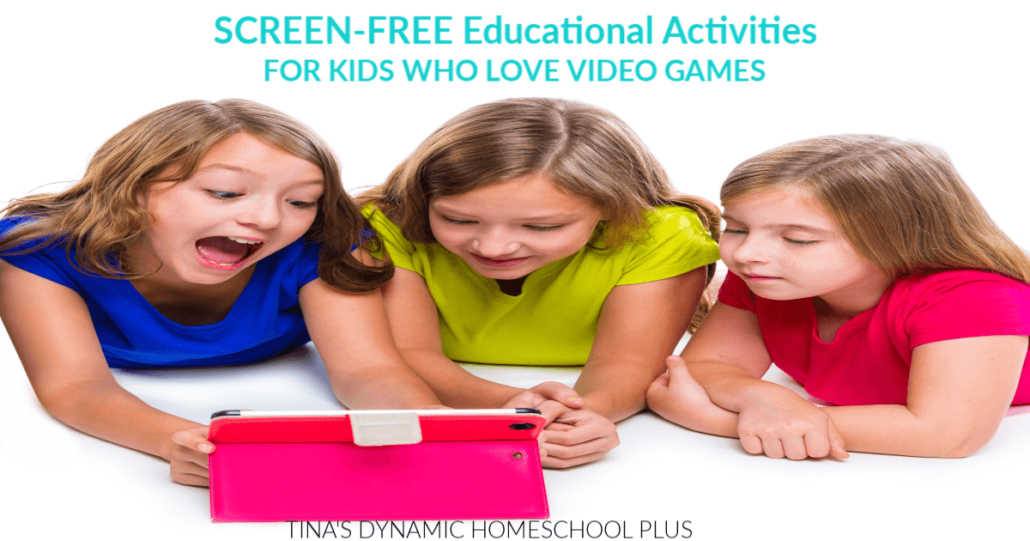 How to get your gamers interested in other subjects or activities! You'll love the SOLUTIONS. CLICK here to grab these tips for Screen-Free Educational Activities for Kids Who Love Video Games